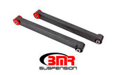 BMR - Lower Control Arms, Boxed, DOM, Non-Adjustable, Polyurethane & Spherical Bearing Combo