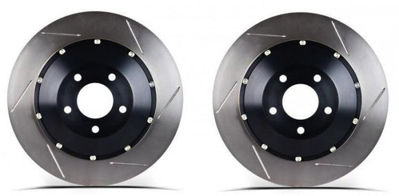 StopTech - 2015-2018 Mustang GT 2 Piece Replacement Slotted AeroRotor - Front Pair (w/ Brembo's)