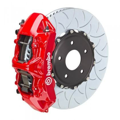 Brembo - (2015-18) Mustang 380mm 6 Piston GT Front Brake Kit (Type 3 Slotted Rotors)