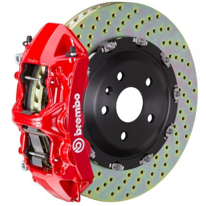 Brembo - (2015-18) Mustang 380mm 6 Piston GT Front Brake Kit (Drilled Rotors)