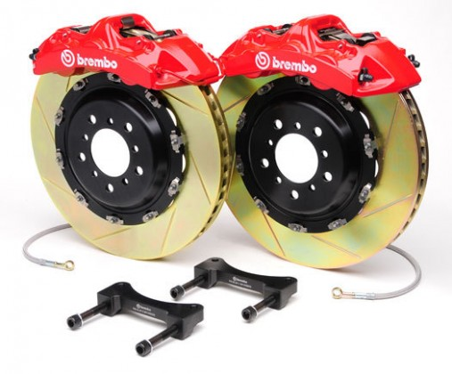 Brembo - (2015-19) Mustang 380mm 4 Piston GT Rear Brake Kit (Type 1 Slotted Rotors)