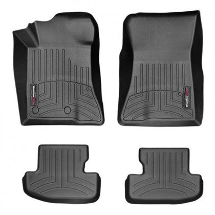Weathertech Front and Rear FloorLiners - Black (2015-2018 Mustang)