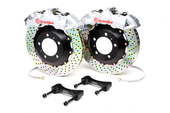 Brembo - (2015-18) Mustang 380mm 6 Piston GT-R Front Brake Kit (Drilled Rotors)