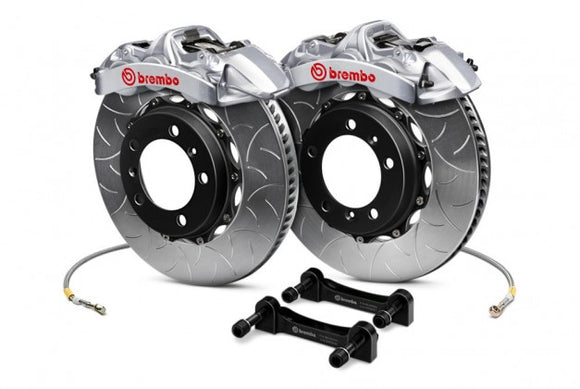 Brembo - (2015-18) Mustang 380mm 6 Piston GT-R Front Brake Kit (Type 3 Slotted Rotors)