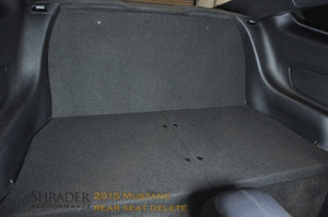 Shrader Performance 2015-2020 Mustang Rear Seat Delete (Coupe) - RSD1516