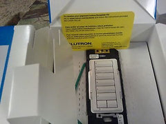 ❶ NEW Lutron QS In Wall Keypad +Color Choice Button Kit HQRD-W6BRL-WH Homeworks