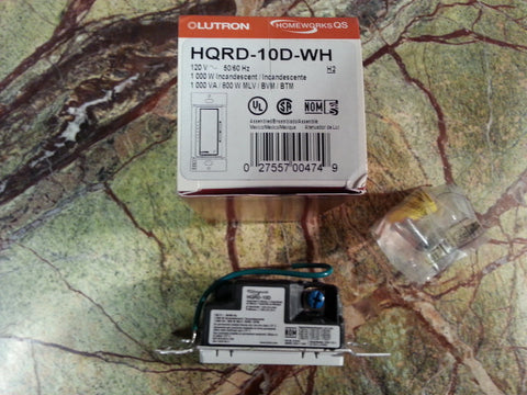 Lutron Homeworks® QS HQRD-10D Dimmer - Your color Choice! Previously Loved