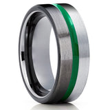 Gunmetal Tungsten Ring - Green Tungsten Ring - Gray Tungsten Ring - Engagement Ring