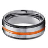 Black Tungsten Ring - Black Tungsten Ring - Orange Tungsten Ring - Gunmetal Tungsten