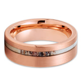 Deer Antler Tungsten Ring - Rose Gold Tungsten - Tungsten Wedding Band - Clean Casting Jewelry