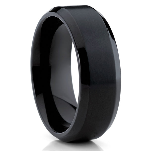 Black Titanium Ring - Titanium Wedding Band - Matte Ring - Black - Handmade - Clean Casting Jewelry