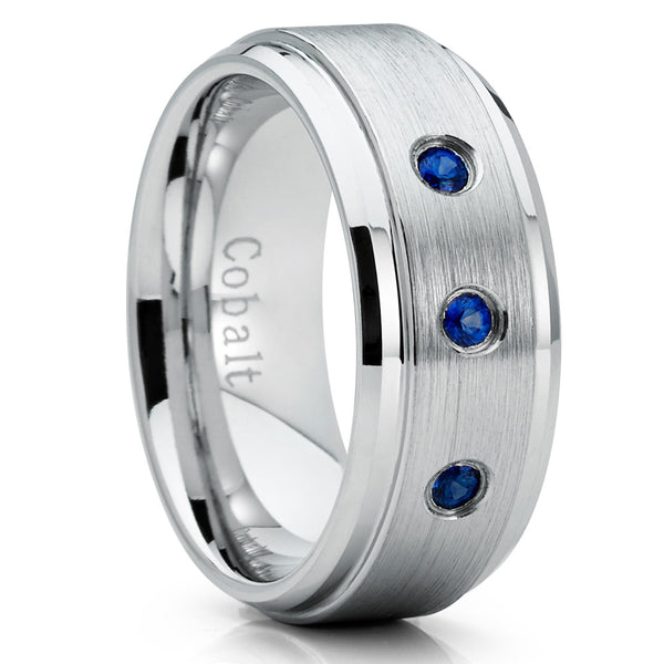 Cobalt Wedding Band - Sapphire Wedding Ring - Cobalt Chrome Ring - Clean Casting Jewelry