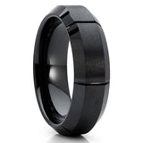 6mm - Black Wedding Band - Black Ceramic Ring - Men's Wedding Band - Clean Casting Jewelry