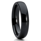 6mm - Black Wedding Band - Ceramic - Ceramic Wedding Band - Dome - Clean Casting Jewelry