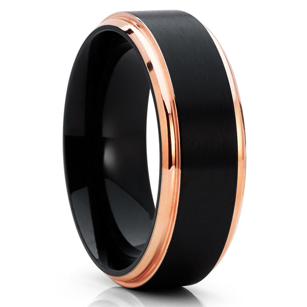 Black Titanium Ring - Titanium Wedding Band - Men's Wedding Band - Black Ring - Clean Casting Jewelry