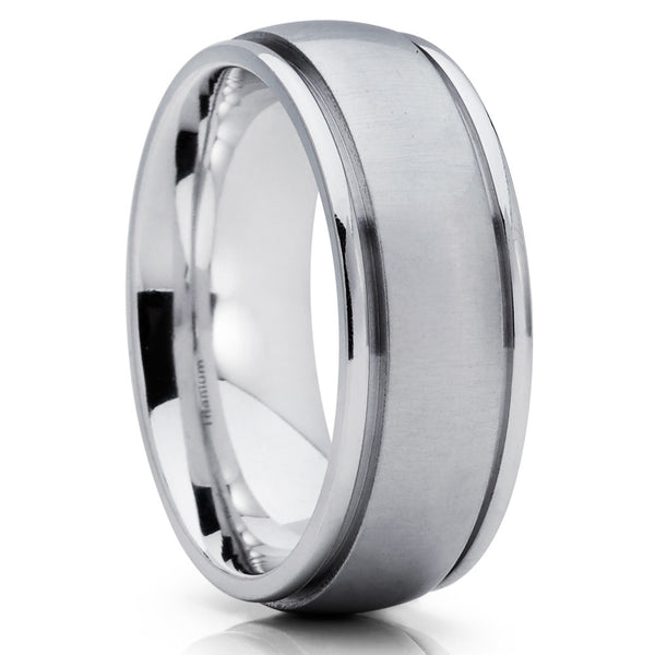 Titanium Wedding Band - Handmade - Titanium Wedding Ring - Men's Ring - Clean Casting Jewelry