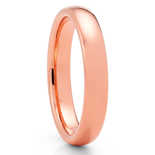 Rose Gold Tungsten Ring - 4mm - Rose Gold Tungsten - Tungsten Wedding Band - Clean Casting Jewelry