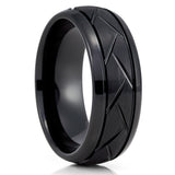 Black Tungsten Wedding Band - 8mm - Black Tungsten Ring - Black Tungsten - Clean Casting Jewelry