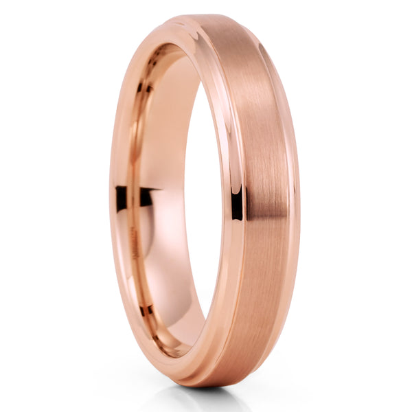 5mm - Rose Gold Tungsten Ring - Women's Tungsten Ring - Tungsten Ring - Clean Casting Jewelry