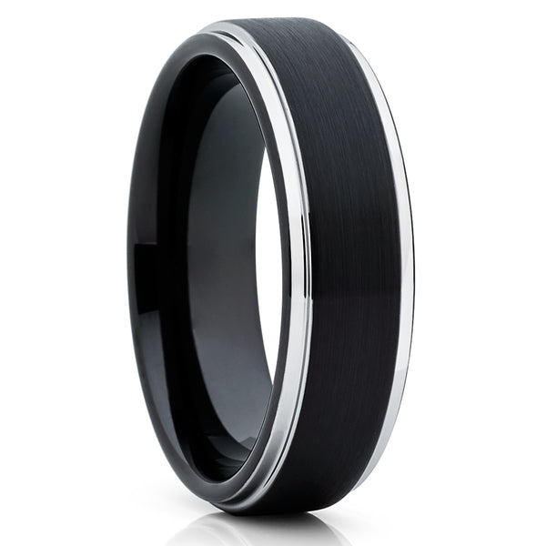 Black Tungsten Wedding Band - 6mm - Black Tungsten Ring - Black Ring - Clean Casting Jewelry