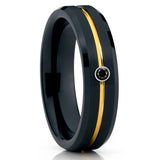 Black Diamond Tungsten Ring - Black Tungsten - Tungsten Wedding Band - 6mm - Clean Casting Jewelry