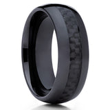 Ceramic Wedding Band - Black Ceramic Ring - Carbon Fiber Ring - Ceramic Ring - Clean Casting Jewelry