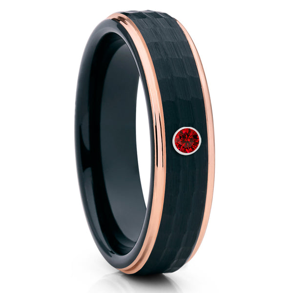 6mm Tungsten Ring,Ruby Tungsten Band,Tungsten Carbide Ring,Men's Tungsten,Unisex