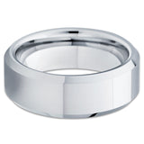 Tungsten Wedding Band - Silver Tungsten Ring - Tungsten Carbide - Shiny - Clean Casting Jewelry