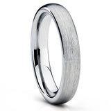 Silver Tungsten Ring - Brush - Tungsten Wedding Ring - Gray Ring - Clean Casting Jewelry