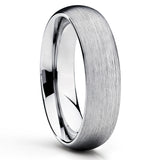 Silver Tungsten Wedding Band - Dome Ring - Tungsten Wedding Ring Unique - Clean Casting Jewelry