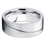 8mm - Titanium Wedding Band - Titanium Wedding Ring - Men's & Women - Clean Casting Jewelry