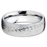 Baseball Wedding Band - Titanium Ring - Baseball Ring - Titanium Wedding Band
