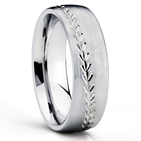 Baseball Wedding Band   Cobalt Wedding Ring   Baseball Wedding