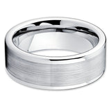 Tungsten Wedding Band - Silver - Men's Wedding Band - Brush Tungsten - Clean Casting Jewelry