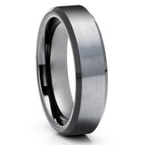 Black Tungsten Wedding Ring - Gray Tungsten Ring - Gunmetal Tungsten Ring - Anniversary Ring - Engagement Ring