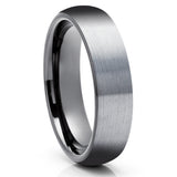 Gray Tungsten Wedding Ring - Gunmetal Tungsten Wedding Band - Anniversary Ring - Unique Tungsten Ring - Comfort Fit