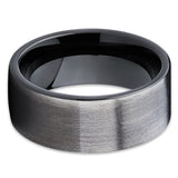9mm,GUNMETAL Tungsten Ring,Black Tungsten Ring,Brushed Finish,Tungsten Carbide