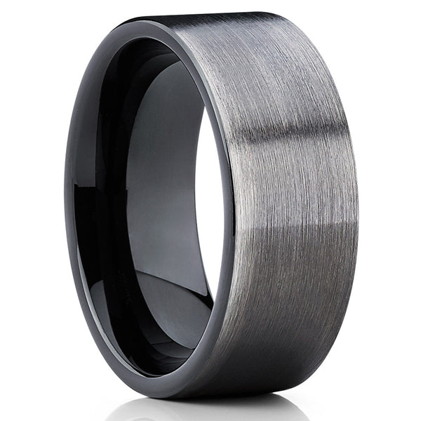 9mm - Black Tungsten Wedding Band - Gunmetal - Gray Tungsten Ring - Clean Casting Jewelry
