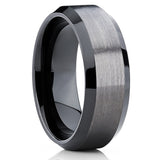 10mm,Black Tungsten Ring,GUNMETAL Ring Comfort Fit,Tungsten Carbide Ring,Wedding Band