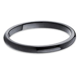 2mm,Black Tungsten Ring,Ladies Tungsten,Tungsten Carbide,Classic Dome,Comfort Fit