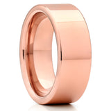 8mm - Rose Gold Tungsten Wedding Band - Shiny Polish - Tungsten Ring - Clean Casting Jewelry