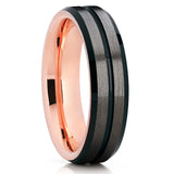Gunmetal Tungsten Ring,Rose Gold Tungsten,Tungsten Wedding Band,Rose Gold Ring