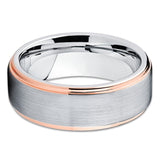 Gray Tungsten Ring,Tungsten Wedding Band,Tungsten Carbide,Wedding Ring,Brush