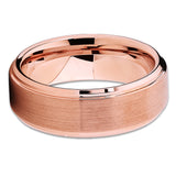 Rose Gold Tungsten Ring - Rose Gold Tungsten - Tungsten Wedding Band - Clean Casting Jewelry