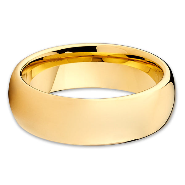 Yellow Gold Tungsten Ring