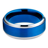 8mm,Blue Tungsten Ring,Tungsten Carbide Ring,Blue Tungsten Band,Blue Tungsten