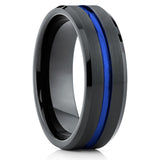 8mm,Blue Tungsten Ring,Tungste Wedding Ring,Tungsten Carbide,Mens Tungsten