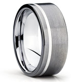 Gray Tungsten Wedding Band - Gunmetal Ring - Black Tungsten Ring - Clean Casting Jewelry