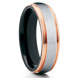 Dome,Rose Gold Tungsten Ring,Tungsten Wedding Band,Rose Gold Tungsten,6mm