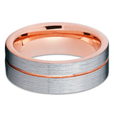 Tungsten Wedding Band - Rose Gold Tungsten - Tungsten Wedding Ring - Clean Casting Jewelry